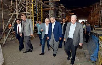 محلب يتفقد مشروع نفق النهضة ويتابع مشروعي محور 30 يونيو وكباري الطريق الدائري الأوسطي | صور