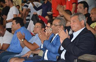 وزير الشباب والرياضة يحضر تدريب المنتخب بإستاد القاهرة قبل السفر إلى روسيا