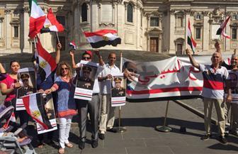 اتحاد الجاليات المصرية ورجال الأعمال بالخارج تحتفل بذكرى 30 يونيو في روما | فيديو وصور