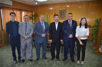 قنصل الصين بالإسكندرية يزورالإسماعيلية قبل ترك مهام عمله ومغادرة مصر
