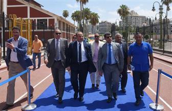 محافظ الإسكندرية يتابع بدء المرحلة الثانية من اختبارات الموهوبين رياضيا | صور