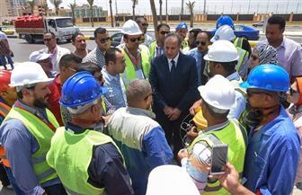 محافظ الاسكندرية يشهد تجربة تفتيش الشركة القابضة على محطة صرف جرين بلازا | صور