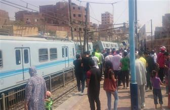 انقلاب عربة مترو بمحطة المرج القديمة دون وقوع إصابات