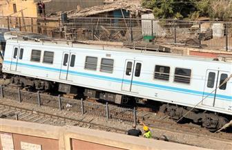"""متحدث المترو: القطار الذى خرج عن قضبان محطة المرج """"كورى"""" ومازال فى الضمان"""