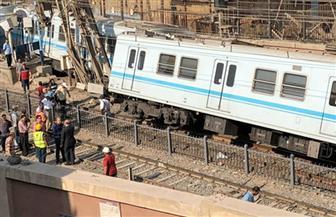 وزارة النقل: المترو الذى خرج عن القضبان بمحطة المرج القديمة كان خاليا من الركاب
