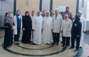 وفد من هيئة التأمين والهلال الأحمر الإماراتي يزور مستشفى الشيخ زايد بمنشأة ناصر ويؤكد توفير الاحتياجات | صور