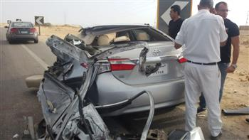 إصابة 16 شخصا في 4 حوادث متفرقة بالعلمين