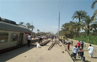 ارتفاع عدد مصابي حادث قطار البدرشين إلى 55 شخصا