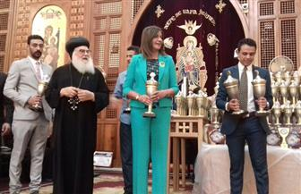 وزيرة الهجرة تشارك في احتفال الكرازة المرقسية بختام المهرجان الرابع عشر | صور