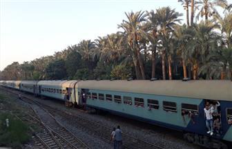 انتظام حركة القطارات في الاتجاهين بموقع حادث قطار البدرشين | صور