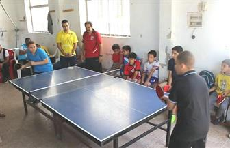 26 لاعبا ولاعبة يؤدون اختبارات الموهوبين في تنس الطاولة بدمياط | صور