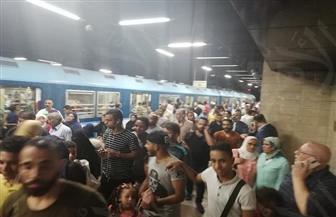 """شهود عيان لـ""""بوابة الأهرام"""".. توقف حركة المترو بالخط الأول من السادات حتى المرج"""