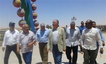 وزير الري يتفقد متحف النيل بأسوان  صور
