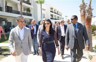 وزيرة السياحة تفتتح فندق العلمين الجديد | صور