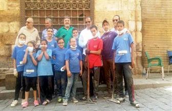 حملة توعية للحفاظ على نظافة سبيل النحاسين بشارع المعز