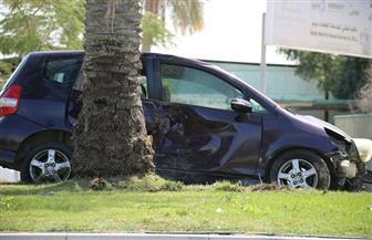 """إصابة 7 أشخاص فى تصادم سيارة برصيف طريق """"الإسكندرية - مطروح"""""""