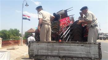 رفع 311 حالة إشغال وإزالة 26 حاجزا خرسانيا في مدن الغربية