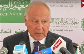 أبو الغيط يضع حجر الأساس للمقر الجديد لمعهد البحوث والدراسات العربية بأكتوبر
