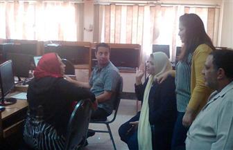 250 طالبا وطالبة تقدموا لتسجيل رغبات من خلال معامل الحاسب الآلي بجامعة بني سويف| صور