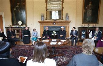 الإمام الأكبر يلتقى أعضاء المنتدى الإسلامى المسيحى البريطانى| صور