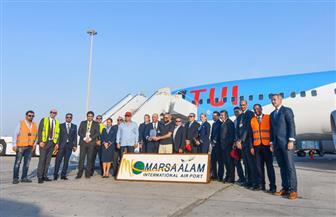 مطار مرسى علم يحتفل بوصول الرحلة رقم 100000   صور