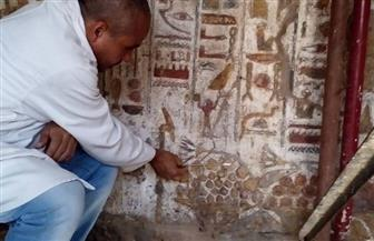 الآثار تنتهى من الترميم الدقيق لمقصورة الإسكندر الأكبر في معبد الأقصر | صور