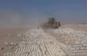 إزالة التعديات على مساحة 70 فدانا من أراضي الدولة بالغردقة | صور
