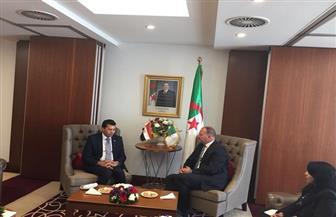 أشرف صبحي يبحث مع نظيره الجزائري سبل التعاون بين البلدين