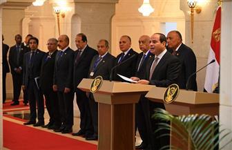 الرئيس السيسي: أمن واستقرار دول الجوار جزء من أمن مصر القومى