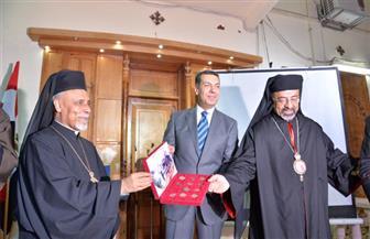 سفير الفاتيكان ومحافظ أسيوط يدشنان مغارة ومزار مسار رحلة العائلة المقدسة بدير درنكة| صور