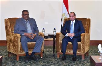 الرئيس السيسى يستقبل نائب الرئيس السودانى بمقر إقامته بالخرطوم