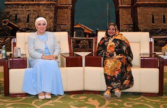 قرينة الرئيس  السيسى تلتقى قرينة البشير بالخرطوم| صور