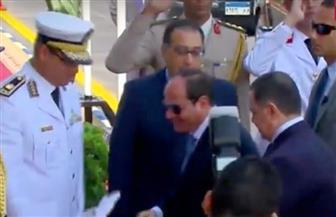 الرئيس السيسي يصل أكاديمية الشرطة ليشهد حفل تخرج دفعة جديدة