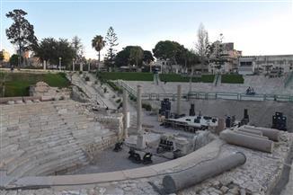 المسرح الروماني بالإسكندرية يتجمل لمهرجان الأوبرا الصيفي.. الليلة | صور