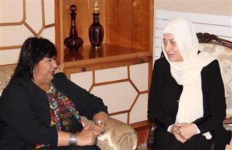 وزيرة الثقافة تبحث مع رندة بري وبهية الحريري سبل التعاون بين مصر ولبنان   صور