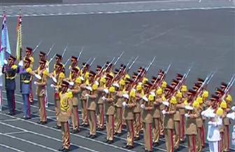 طلاب الكليات العسكرية يحتفلون بتخرجهم على أنغام الأغاني الوطنية