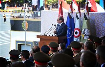 نص كلمة الرئيس السيسي في حفل تخرج دفعة جديدة من طلاب الكليات العسكرية