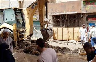 الانتهاء من إصلاح كسر ماسورة مياه شارع الوحدة الصحية في دارالسلام