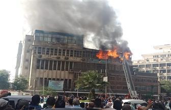 النيابة تنتهي من معاينة حريق نقابة التجاريين
