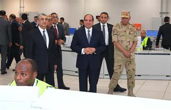 الرئيس السيسي يفتتح محطة كهرباء العاصمة الإدارية الجديدة