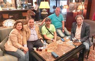 السفير المصرى بالجزائر يستقبل نجوم مهرجان وهران الدولى