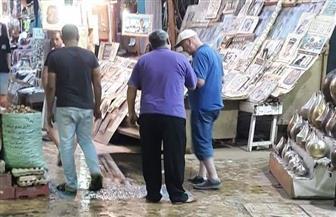غرق شارع السوق السياحى بالأقصر في مياه الصرف الصحى | صور