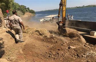 إزالة 12 تعديا على مجرى النيل بمساحة 1255 م2 بالأقصر | صور