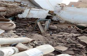 """غرق منازل """"الكرور"""" بأسوان فى مياه الصرف الصحى بعد كسر خط طرد المحطة 11"""