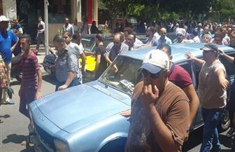 تشييع جثمان الفنان محمد شرف لمثواه الأخير بالإسكندرية |صور