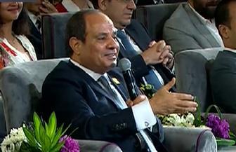 الرئيس السيسي: بناء الإنسان عملية مجتمعية.. ولن نخرج من دائرة العوز بالحكومة فقط