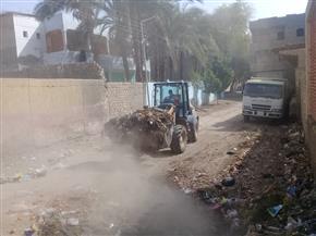 رفع 150 طن تجمعات قمامة ونواتج تطهير في حملات نظافة بالمحلة الكبرى