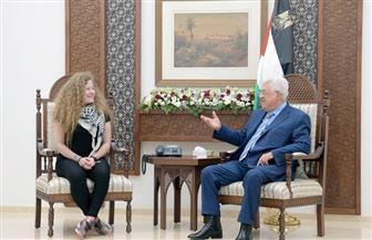 الرئيس الفلسطينى يستقبل عهد التميمى |صور