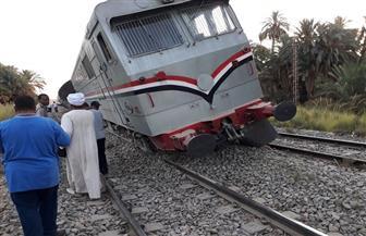 إصابة 12 مواطنا جراء خروج قطار عن القضبان بالمنوفية