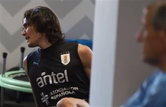 عودة كفاني لتدريبات أوروجواي استعدادا لمواجهة فرنسا| صور